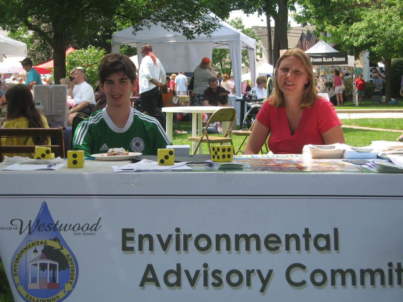 Members of the Environmental Advisory Committee at Westwood Pride Day